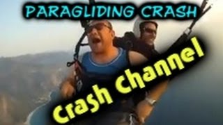 Paragliding Crash Compilation 2014