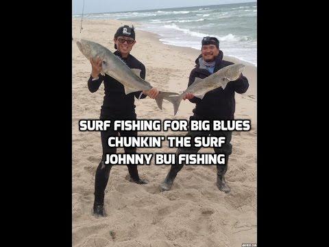 Surf Fishing For BIG BLUEFISH - NJ