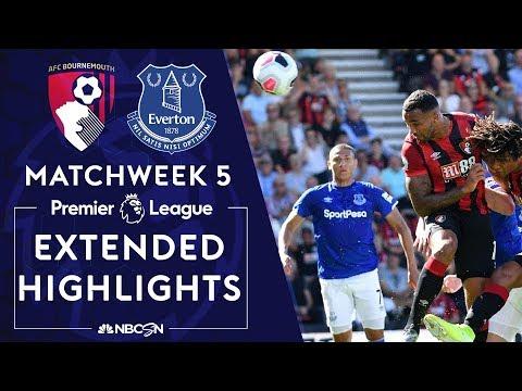 Bournemouth v. Everton | PREMIER LEAGUE HIGHLIGHTS | 9/15/19 | NBC Sports