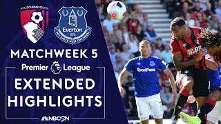 Bournemouth v. Everton | PREMIER LEAGUE HIGHLIGHTS | 9/15/19 | NBC Sports