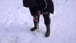 Ледобур шуруповерт на рыбалке