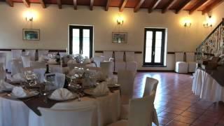 La sala delle feste allestita