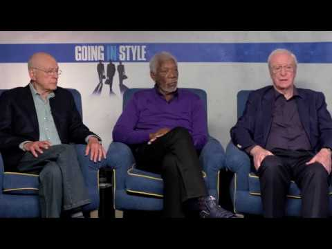 "Morgan Freeman, Michael Caine, Alan Arkin Interview for ""Going in Style"""