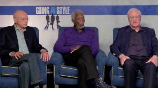 """Morgan Freeman, Michael Caine, Alan Arkin Interview for """"Going in Style"""""""