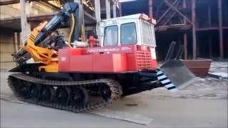 Бесчокерный трелевочный трактор ЛП-18К на шасі МСН-10 (ТТ-4М).