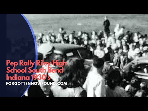 Found 8mm Home Movie Film 1930's Pep Rally Riley High School South Bend Indiana
