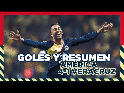 Club América 4-1 Veracruz | RESUMEN Todos los goles Jornada 17 | Liga MX | Apertura 2018