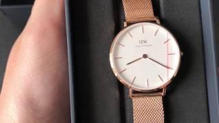 Unbox Daniel Wellington Classic Petite Melrose DW00100163 - Mở hộp đồng hồ DW chính hãng