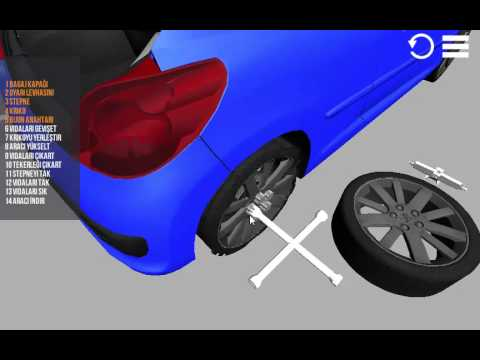 How to change spare wheel