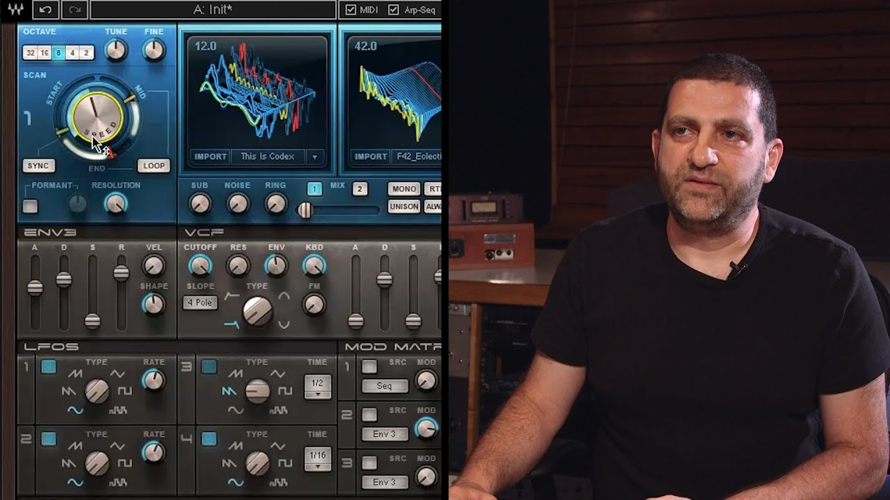 Waves Codex Wavetable Synth Demonstration with Yoad Nevo - YouTube