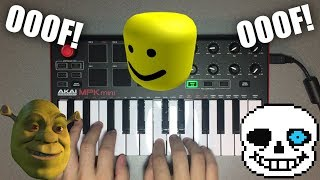 I played MEME SONGS using the Roblox OOF Death Sound!