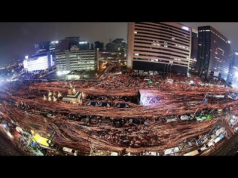 South Korea sees largest protest in weeks of demos against president Park Geun-hye