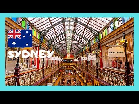 SYDNEY, the historic STRAND ARCADE, the city's OLDEST SHOPPING MALL (AUSTRALIA)