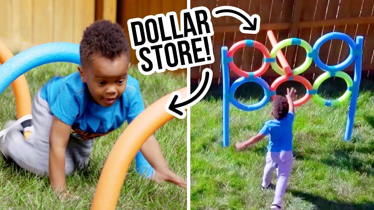 Diy Dollar Store Backyard Obstacle Course Hgtv Handmade Youtube