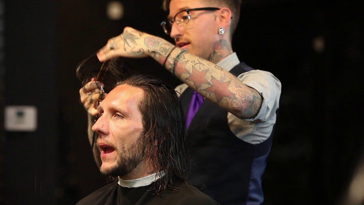 Men S Long Layered Haircut Featuring Brandon Novak From