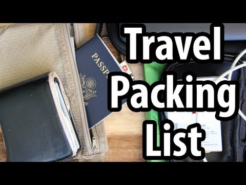 Travel Packing List - Do You Carry These Things?