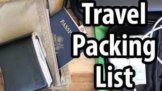 Travel Packing List – Do You Carry These Things?