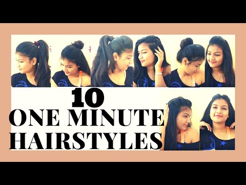 10 Most Easy 1Min Hairstyles For Beginners|Step By Step|Meghna Adhikary