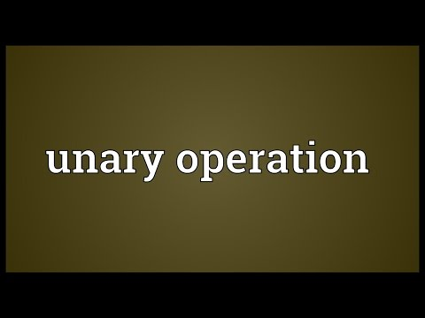 Unary operation Meaning