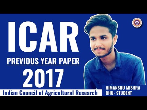icar previous year paper 2017 old question paper of icar 2017