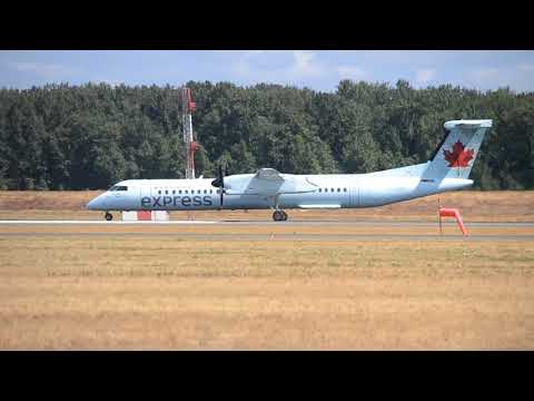 Air Canada Express Bombardier Dash 8 Q400 [C-GGOY] Takeoff From PDX