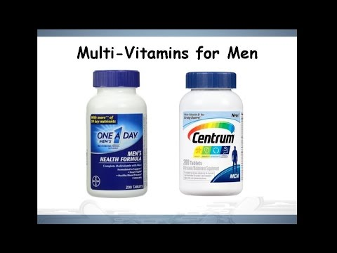 One A Day® Men's Health Formula vs Centrum® Men