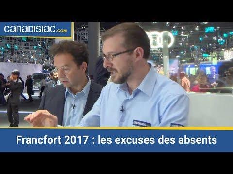 Peugeot, Mitsubishi, Volvo… les absents ont tous un mot d'excuse - Salon de Francfort 2017
