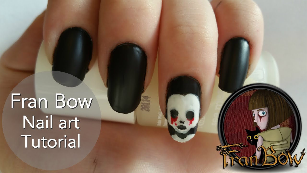 Fran Bow Nail Art Tutorial - YouTube