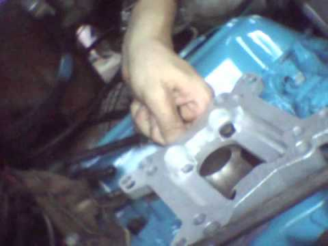 how to install a 4 bbl carburetor to a 2 bbl intake