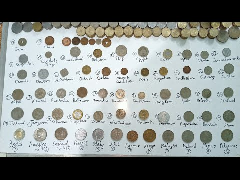 192 country coins part 1, world coins, videshi sikke, purane sikke, old coins, foreign coins