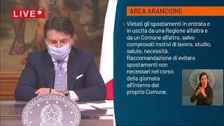 Emergenza Coronavirus, il premier Conte illustra il nuovo dpcm