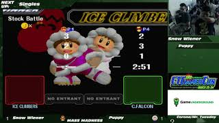Mass Madness 22 SSBM - Snow Wiener (C. Falcon) vs. Puppy (Ice Climbers) - Melee WR2