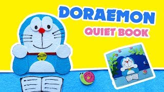 Sách Vải Doraemon Và Nobita | Doraemon And Nobita Quiet Book |  Quiet Book Ghes Handmade