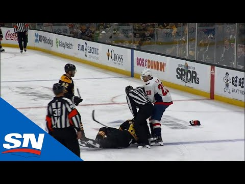Brad Marchand Backs Down From Fight With Lars Eller