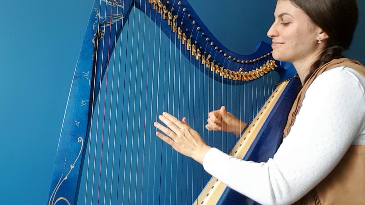 One Love - Bob marley - harp cover - Evélina Simon