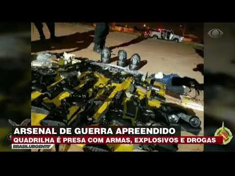 Polícia prende quadrilha com arsenal de guerra no DF