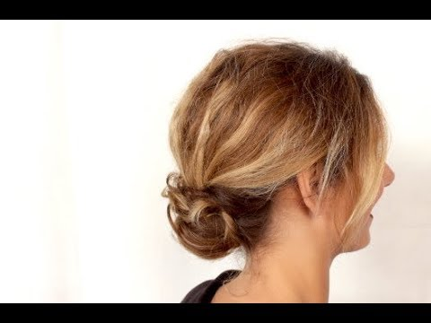 tuto coiffure chignon bas et vaporeux marion blush youtube. Black Bedroom Furniture Sets. Home Design Ideas