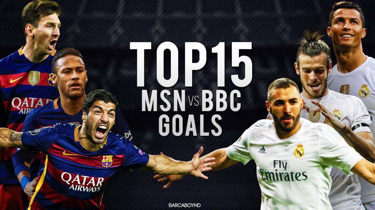MSN vs BBC ● Top 15 Goals 2015/2016