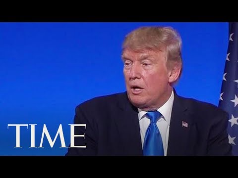 President Trump Defends His Son's Meeting With Russian Lawyer During French Press Conference | TIME