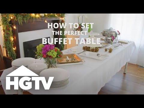 Beau How To Set A Buffet Table   HGTV
