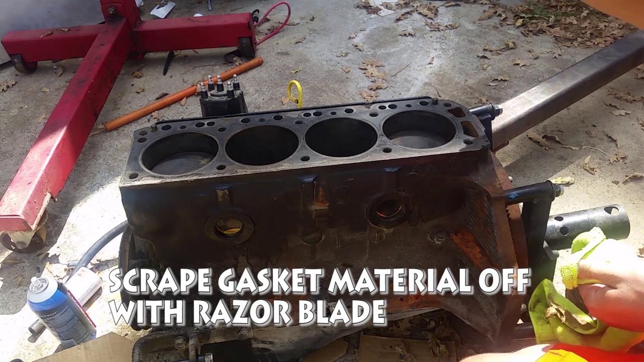 assembling 3 0L mercruiser engine HEAD GASKET