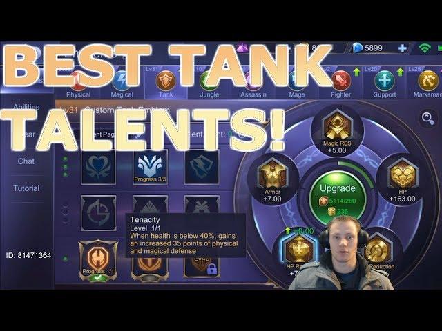[Mobile Legends] Correct Emblem/Talent Choices for Tanking