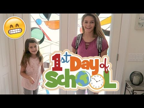 GET READY WITH ME FIRST DAY OF SCHOOL CHALLENGE AND THEY GET THEIR NAILS DONE!
