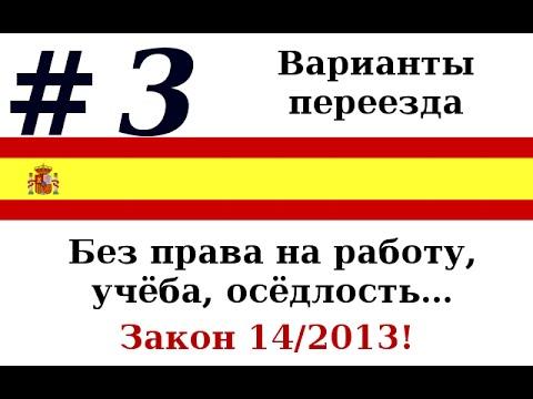 #3: Варианты переезда в Испанию, закон 14/2013