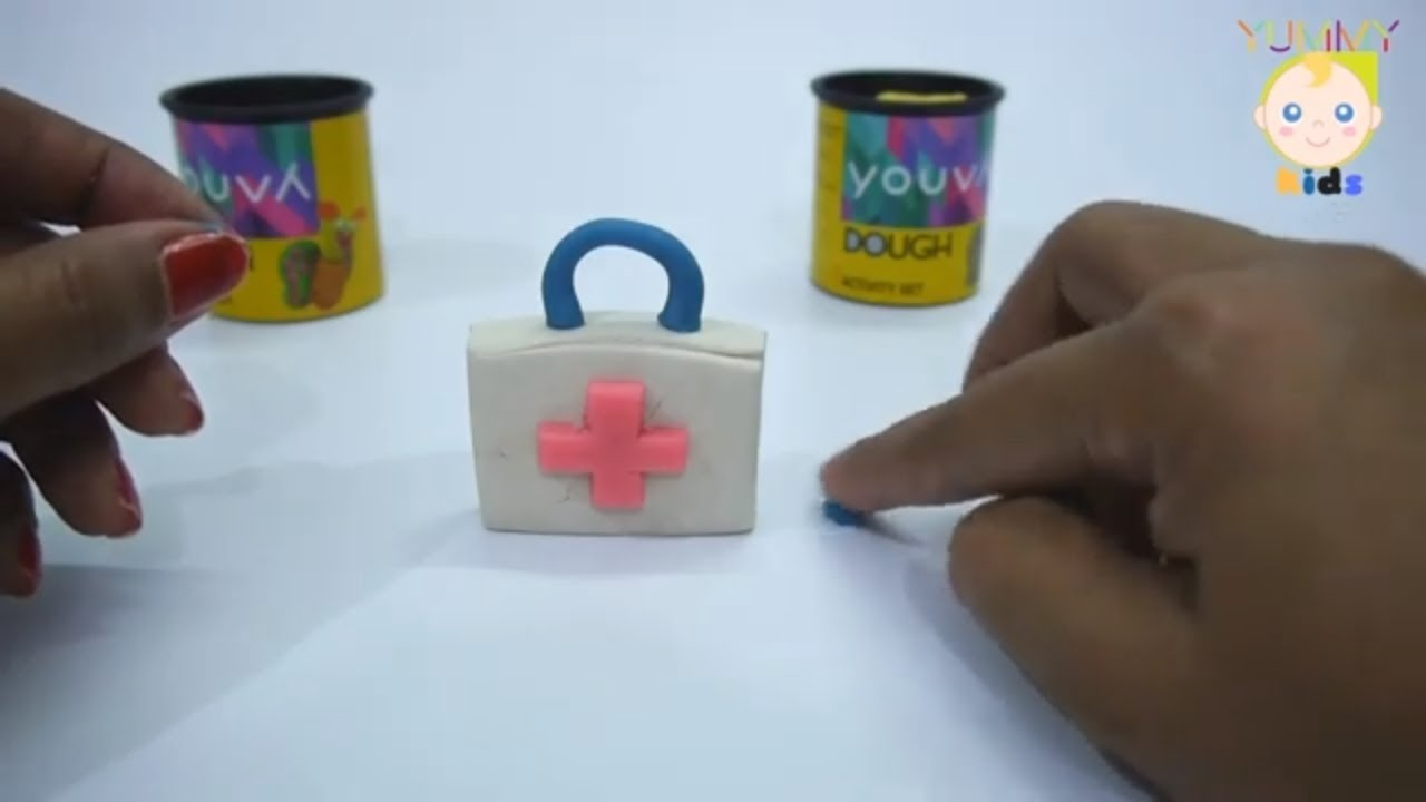 Air Dry Clay Piggy Bank Doctor Bag Turtle Clay Modelling For Kids