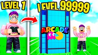 Can We Build A MAX LEVEL ARCADE In ROBLOX ARCADE TYCOON?! (100,000 ROBUX SPENT!)