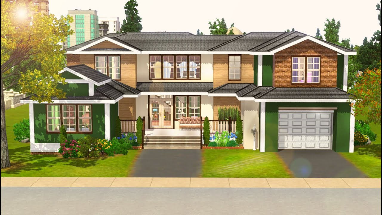 Sims 3 speed build urban melody youtube for What is needed to build a house