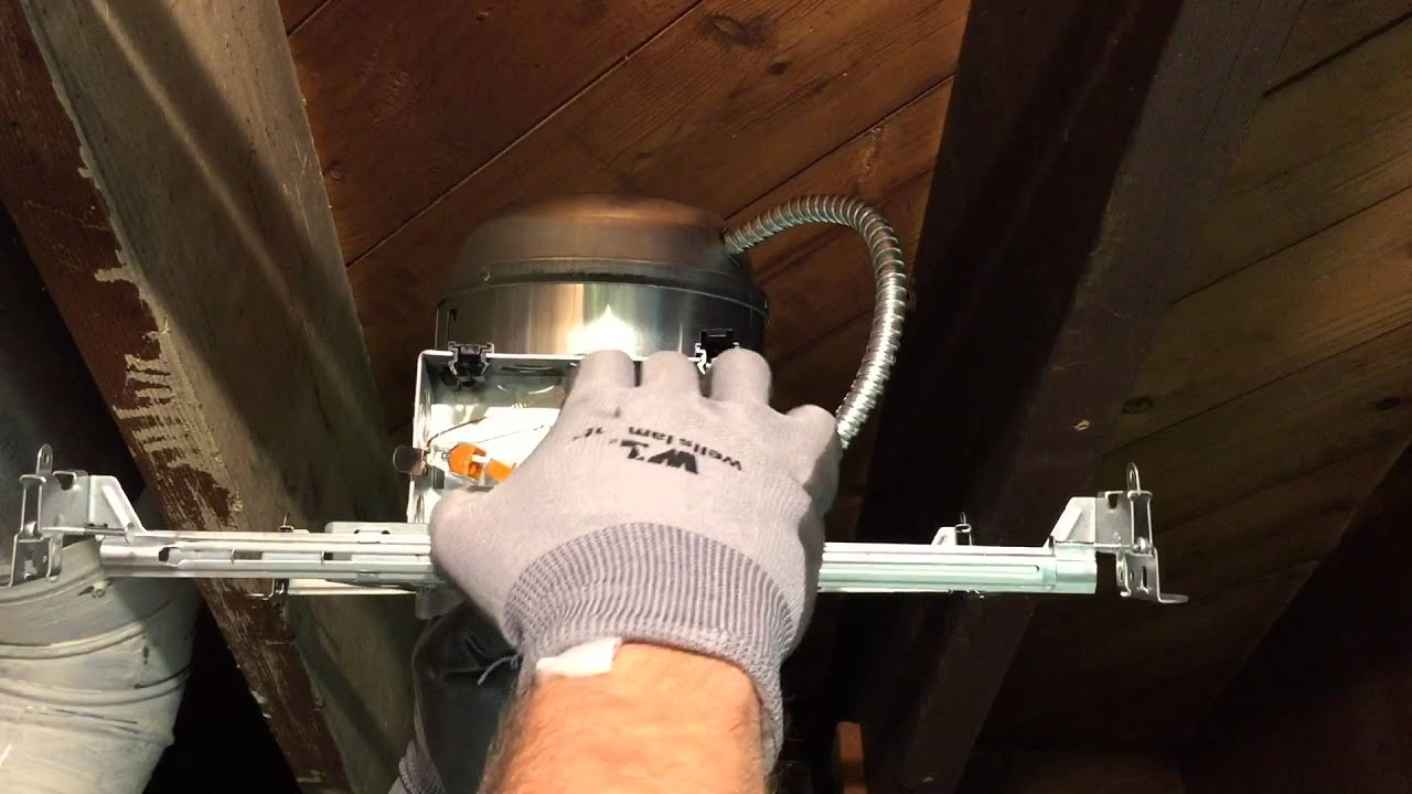 How To Install Halo New Construction Recessed Lighting Youtube Ceiling Light Fixtures Connecting Fixture Wires