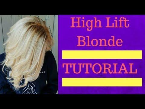 Wella high lift blonde babylights tutorial also youtube rh