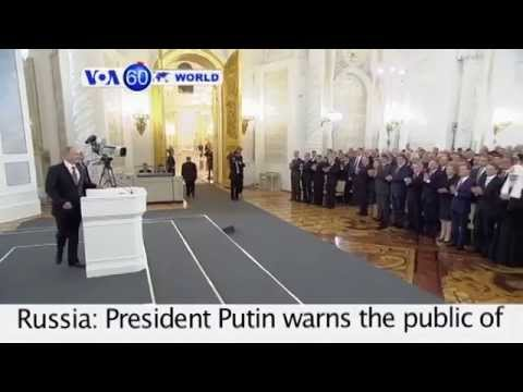 Russia's President Putin warns the public of a coming recession - VOA60 World 12-04-2014